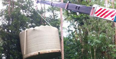 installing water tanks
