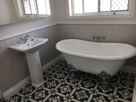 new bathroom install inspection
