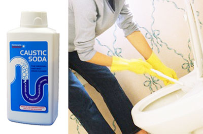 Caustic Soda, Clogged Toilet