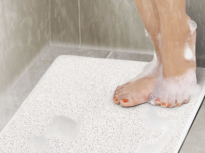 Use Of Textured Bath Mat Is One Of The Cheapest And Simplest Solutions For  Most Of The Slippery Bathroom Floors. It Is Ideal For Bathtubs.